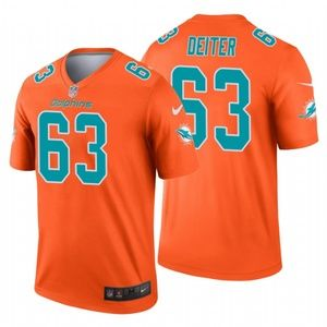 Men Michael Deiter Miami Dolphins football Jersey